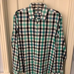 Express men's button down, LG, fitted, 15 - 15 1/2